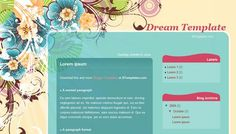 Girly: 'Dream' layout from BTemplates #blogspot #blogger