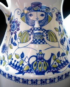 1960s Figgjo Flint (Norway) 'Lotte' Teapot