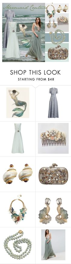 """Mermaid Couture"" by divinesunshine ❤ liked on Polyvore featuring Shell Rummel, LUISA BECCARIA, Temperley London, Seaman Schepps, Bottega Veneta, Betsey Johnson, Alexis Bittar and Needle & Thread"