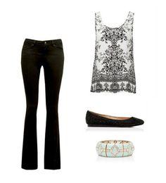 İspanyol paça pantolon ve mücevher desenli bluzla bohem bir stile kavuşun. www.forevernew.com.tr
