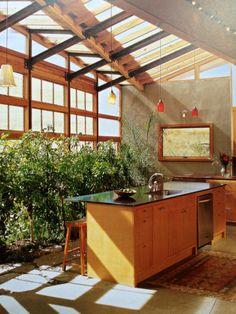Elegant Greenhouse Kitchen | Kitchen Greenhouse #kitchenroomideas #kitchenroom