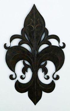 Louis XVI Fleur-de-Lis Handcrafted Metal Wall Sculpture