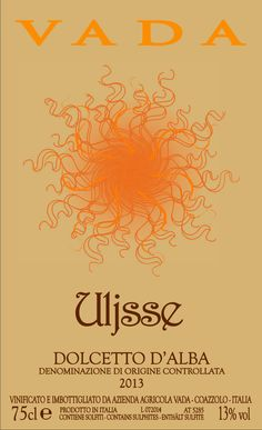 Uljsse - Dolcetto d'Alba - Vada Vini #naming #design #vino #wine #packaging #labels #etichette