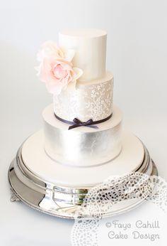Signature custom lace cake by Faye Cahill Cake Design