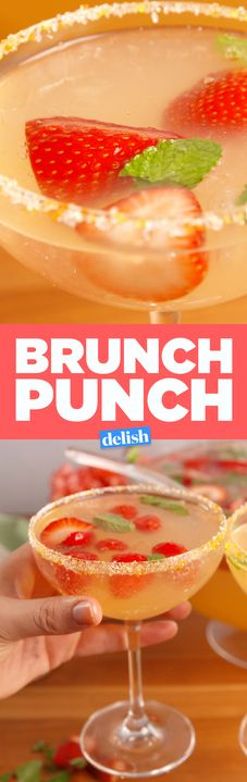 This Brunch Punch will knock out your whole crew. Get the recipe from Delish.com.