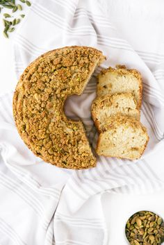 A perfect weekend treat, this spiced Cardamom Pistachio Coffee Cake absolutely melts in your mouth!