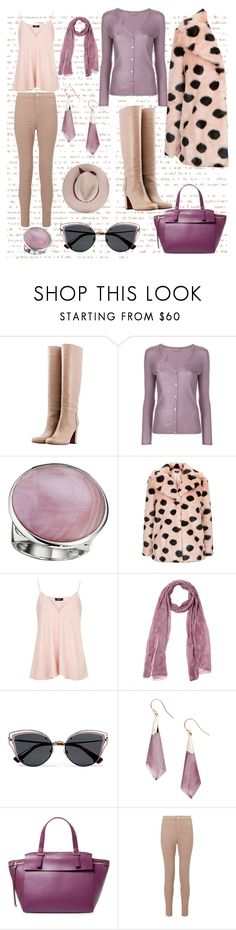 """""""pastel winter"""" by justjess1990 ❤ liked on Polyvore featuring L'Autre Chose, N.Peal, Topshop, Theory, Altea, Valentino, Alexis Bittar, Furla and Miss Selfridge"""