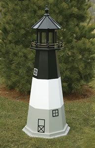 Amish Made Wooden Outdoor Oak Island Lighthouse