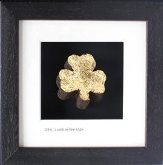 Luck of the Irish - Gold Leafed Shamrock - Limited Edition Cool Gifts, Unique Gifts, St Patricks Day, Saint Patricks, Luck Of The Irish, Gold, Crafts, Ireland, Houses