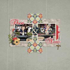 Then and Now ~ Template by Scrappin with Liz & kit is Fairytale Prince by Magical Scraps Galore.