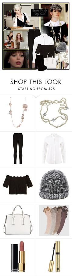 """""""Remembering my favorite fashion movie and Anne Hathaway look!"""" by ela79 ❤ liked on Polyvore featuring Chanel, Prada, Paige Denim, Brunello Cucinelli, Hollister Co., Eugenia Kim, French Connection, Gucci and Estée Lauder"""