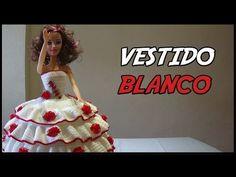 Visita mi página: http://www.tejiendoperu.com/ y encontrarás muchos tutoriales más! Un vestido para muñeca que pueden decorar las niñas con botones, lazos, c...