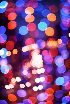 Abstract defocused color lights by `Silverkblack`, via Flickr