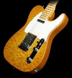 Fender Custom Shop 2012 Deluxe Telecaster Electric Guitar Faded Honey Burst
