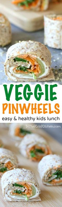 Who said kids don't want to eat their vegetables? Bite-sized veggie pinwheels are a nutrition-packed kids snack or lunchbox hit!