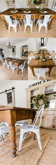 nice White farmhouse Metal Chairs Dining Room Decor by Liz Marie Blog - Farmhouse din... by http://www.top-100-homedecorpics.us/dining-room-decorating/white-farmhouse-metal-chairs-dining-room-decor-by-liz-marie-blog-farmhouse-din/