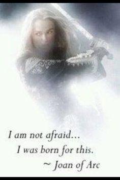 """I am not afraid. I was born for this."" St Joan of Arc Spiritual Warrior, Warrior Spirit, Spiritual Warfare, Warrior Quotes, Prayer Warrior, Saint Joan Of Arc, St Joan, Christian Warrior, Christian Women"