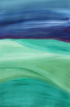 """Abstract Landscape Painting on Paper-Original / 12""""x 16""""- """"Landscape Study #3"""""""