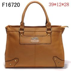 US2642 Coach Chelsea Leather Jayden Carryall F16720 - Brown 2642