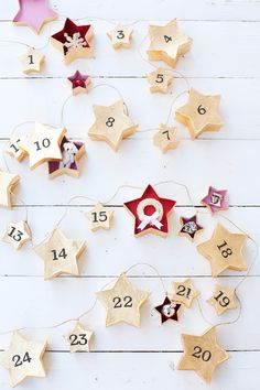 These DIY advent calendars are the cutest ways to pass the days until Christmas. From lights to garlands and more creative inspiration, we've got the best advent calendar ideas right here. Christmas Calendar, Christmas Gift Tags, Christmas Countdown, Christmas Time, Christmas Crafts, Christmas Decorations, Christmas Stockings, Merry Christmas, Cool Advent Calendars