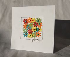 Try with rectangle on standard card using other punches (snowflakes, hearts, leaves, etc.) with different text or just a few dots where the text is; can tailor for masculine or feminine cards