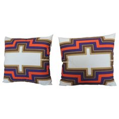 Pair of Modern Pillows | From a unique collection of antique and modern pillows and throws at https://www.1stdibs.com/furniture/more-furniture-collectibles/pillows-throws/