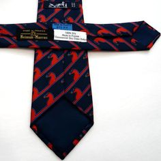 Carre de Paris - SOLD - Hermes Silk Necktie with equestrian theme. A true Classic in navy and red. Visit this page & discover our online HERMES Resale Shop Hermes Men, Silk Ties, Neiman Marcus, Scarves, Navy, Red, Collection, Fashion, Scarfs