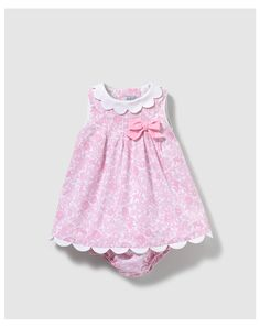 Thumbnail #1 Más Más Baby Girl Dress Patterns, Baby Dress Design, Dresses Kids Girl, Little Girl Dresses, Cute Dresses, Baby Outfits, Kids Outfits, Fashion Kids, Baby Doll Clothes
