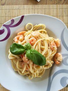 Spaghetti mit scharfer Garnelen - Sahne - Soße, ein gutes Rezept aus der Kategorie Schnell und einfach. Bewertungen: 63. Durchschnitt: Ø 4,3.