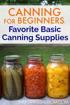 Canning for Beginners: Best Basic Canning Supplies Want to begin canning but not sure what supplies you'll need? Here's my list of favorite basic canning supplies that'll have you canning in no time! Easy Canning, Canning Tips, Home Canning Recipes, Cooking Recipes, Pressure Canning Recipes, Budget Recipes, Cookbook Recipes, Pressure Cooking, Canning Vegetables