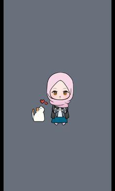 Cartoon Design, Cartoon Art Styles, Anime Neko, Kawaii Anime, Easy Doodle Art, Family Drawing, Islamic Cartoon, Anime Muslim, Hijab Cartoon