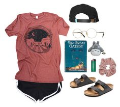 """road trip !!"" by aliennbby on Polyvore featuring Birkenstock, Oliver Peoples and King Apparel"