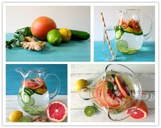 How To Make DIY Healthy Peppermint Grapefruit Detox Water