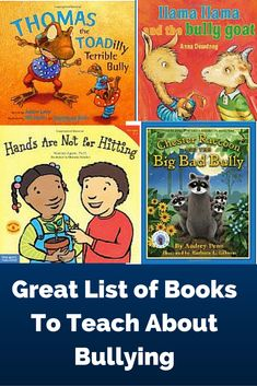 Great list of picture books that deal with bullying. Checkout the book descriptions and reviews.