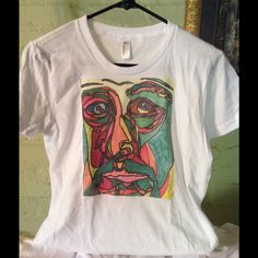 Picasso hand designed tee! Not unisex tee s,m, l or woman's smaller fit cd,s. Ask me in sizes 100% cotton crew neck or unisex also in v neck- American Apparel American Apparel Tops Tees - Short Sleeve