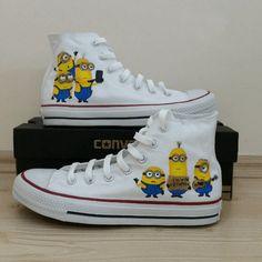 c08a078760e6c5 Shop Minion Converse Shoes custom converse Minion Converse Shoes Sneakers  Converse Minion Converse Shoes