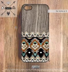 iPhone 5 Case Wod Print Southwestern Geometric by casesbycsera, $19.99