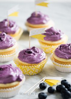Fresh Blueberry Cream  Cheese Frosting by @WhiteOnRice on WhiteOnRiceCouple.com