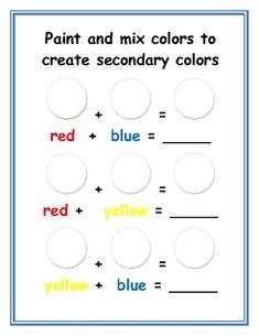 Color Wheel Activities by Nyla's Crafty Teaching Kindergarten Colors, Kindergarten Art Lessons, Preschool Colors, Preschool Science, Color Wheel Worksheet, Elements Of Art Color, Color Wheel Projects, Color Wheel Art, Art Handouts