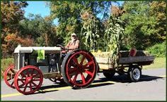 Uncle Miller in the Tractor Parade