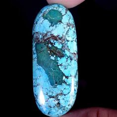 75.40CT.TIBET TURQUOISE OVAL CAB GEMSTONE TREATED CABOCHON BRILLIANT VIEW #Jaipurgems2016
