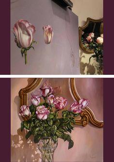 """""""Cándidos Reflejos"""" Óleo 90x100 cm. www.rodolfo-insaurralde.com"""