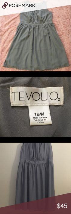 TEVOLIO Dress 👗 Like new  plus size dress 👗 2 buckets and the zipper on the side shell 100% polyester and lining 100% polyester RN 17730 Tevolio Dresses