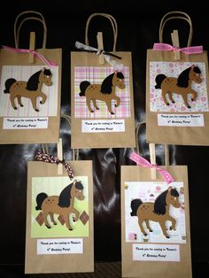 Horse Birthday Party Goodie Bags