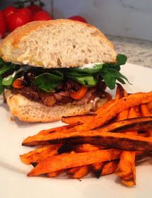 Steak Sandwich & Sweet Potato Fries
