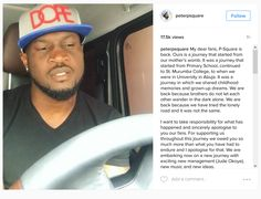 In a new video posted by Peter Okoye on his Instagram handle, he made a submission that the problems with P-Square is over and that they are back!