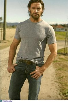 Something ruggedly handsome about Hugh Jackman!
