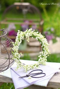 lily of valley wreath or crown for a flower girl
