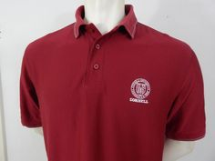 Cornell University Embroidered Logo Golf Polo Shirt Size M (L) Ithaca NY NY #Extreme #PoloRugby
