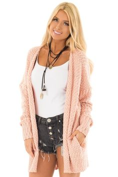 c335dbf248 Lime Lush Boutique - Blush Cardigan with Hidden Pockets
